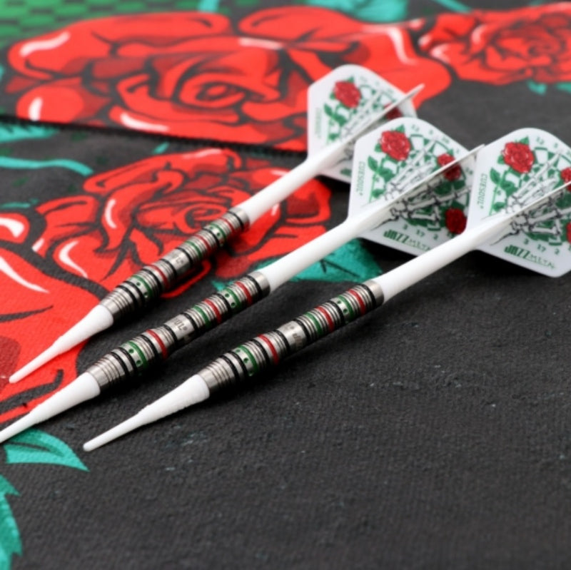 9. CUESOUL JAZZ-METAL 19g Soft Tip 90% Tungsten Dart Set with Integrated ROST Flights, Front Loaded Shape