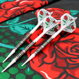 CUESOUL JAZZ-METAL 19g Soft Tip 90% Tungsten Dart Set with Integrated ROST Flights,Pencil Shape
