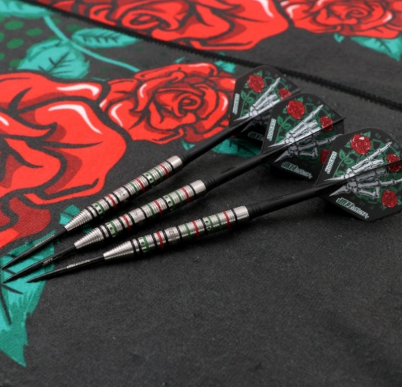 9. CUESOUL JAZZ-METAL 21/23/25g Steel Tip 90% Tungsten Dart Set with Integrated ROST Flights,Pencil Shape