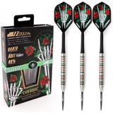 CUESOUL JAZZ-METAL 21/23/25g Steel Tip 90% Tungsten Dart Set with Integrated ROST Flights,Pencil Shape