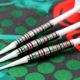CUESOUL JAZZ-METAL 19g Soft Tip 90% Tungsten Dart Set with Integrated ROST Flights,Torpedo Shape