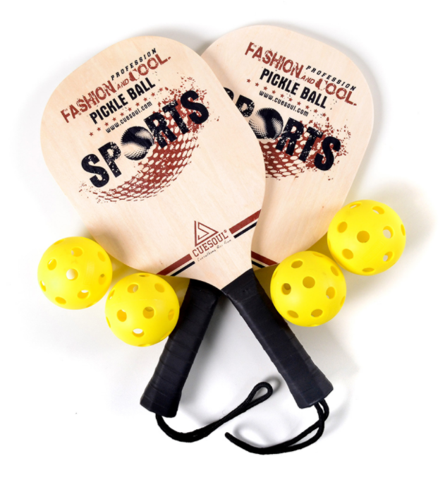 11. CUESOUL Basswood Pickleball Paddle Bundle (Set Includes 2 Paddles & 4 Balls