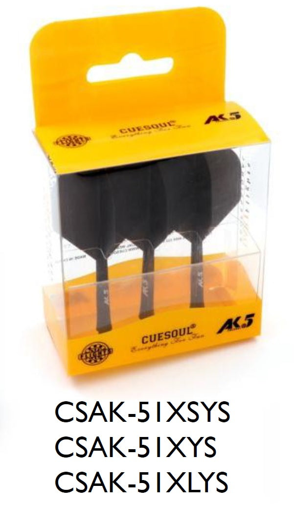 3. CUESOUL AK5 ROST Solid Color Integrated Dart Shaft and Flight STANDARD, Set of 3 (3 Sizes & 8 Color Options)