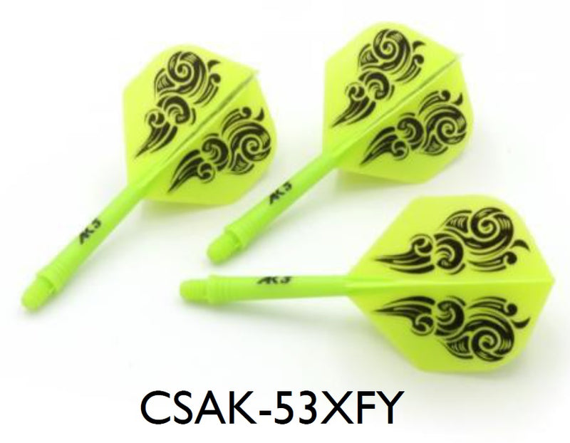3. CUESOUL AK5 ROST Cloud Pattern Integrated Dart Shaft and Flights STANDARD, Set of 3 (SIZE M Only & 7 Color Options)