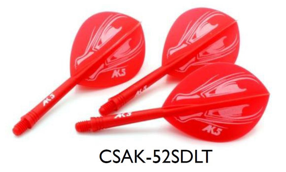 CUESOUL AK5 ROST ALIEN DESIGN Integrated Dart Shaft and Flight TEARDROP, Set of 3 (M Size Only & 7 Color Options)