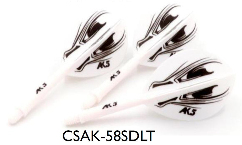 3. CUESOUL AK5 ROST ALIEN DESIGN Integrated Dart Shaft and Flight TEARDROP, Set of 3 (M Size Only & 7 Color Options)