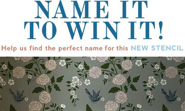 Name It to Win It is Back with a Stunning Stencil!