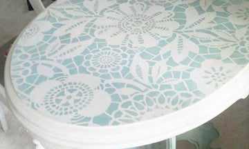Paint and Stencil Pretty Table Tops!