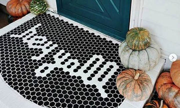 Penny for Your Thoughts: Hexagon Floor Tile Stencils