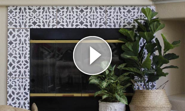 Hot Hack How To Stencil Your Fireplace