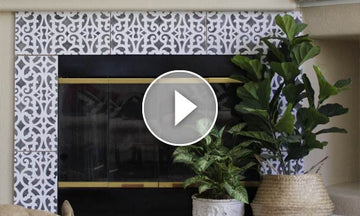 Hot Hack: How to Stencil Your Fireplace