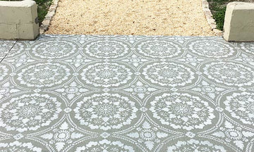 How to Stencil a Concrete Patio Floor