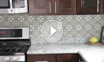 Stencil a Tile Kitchen Backsplash in 5 Easy Steps