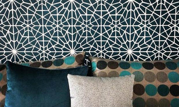 Get the Blues with Wall Stencil Projects in Beautiful Blue Hues