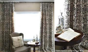 Pull It Together with these 12 Stenciled DIY Curtains