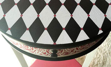 5 Harlequin Diamond Pattern Stencil Ideas
