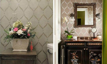 Stencil Ideas for 6 Dreamy Bathrooms to Help You Relax & Unwind