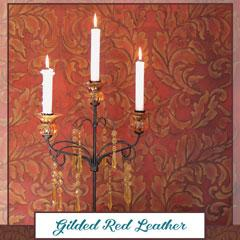 Royal Recipe: How to Stencil a Gilded Red Leather Wall Finish