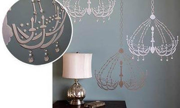 Embellished Stenciling Ideas with Bari J Stencil Collection