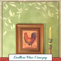 Royal Recipe: How to Stencil an Embossed Vine Pattern