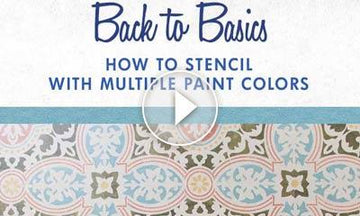 How to Stencil using Multiple Paint Colors