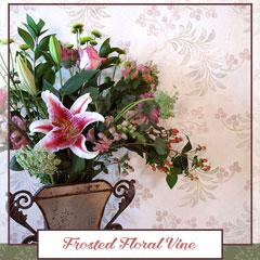 Royal Recipe: How to Stencil a Frosted Floral Vine Design