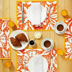 Set a Stylish Table with Stenciled Placemats