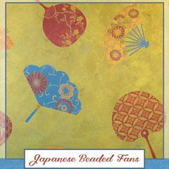 Royal Recipe: How to Stencil Beaded Japanese Fans