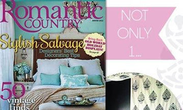 Stencil Double Feature in Romantic Country Magazine!