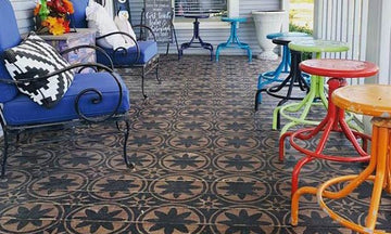 Easy Breezy Patio Floor Stencil Ideas