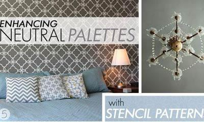 Stenciling Wall Stencil Patterns In Gray Colors