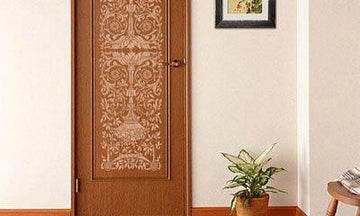 Stylish and Welcoming Stenciled Doors