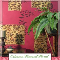 Royal Recipe: How to Stencil Floral Accent Wall Finish
