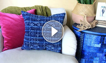How to Paint Fabric & DIY Pillows with Bohemian Stencils