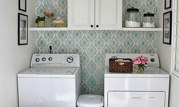 Beautiful DIY Laundry Room Makeovers with Stencils