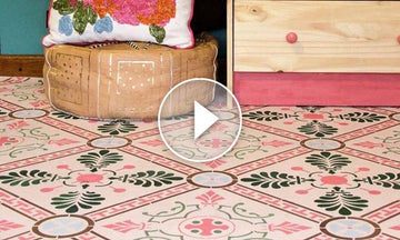 Solution to Vinyl Flooring: How to Paint with Floor Stencils