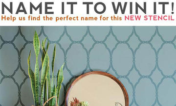 Help Us Name This Trellis Stencil + WIN It!