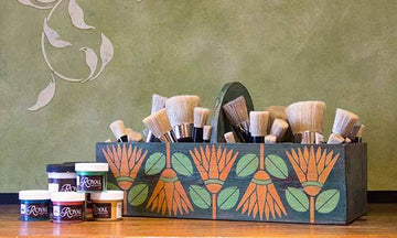 Stencil How-to: Using Chalk Paint® to Stencil a Custom Brush Box