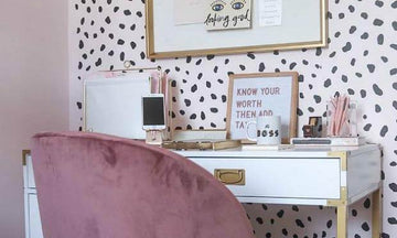 Pretty & Productive: Go-Getter Home Offices with Wall Stencils