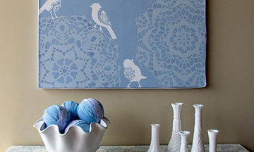 Stencil How-to: Lace Canvas Combo