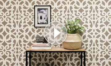 Fast & Fabulous: How to Stencil a Wall in Only 1 Hour!