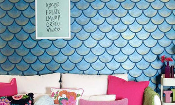 Mermaids & Wall Stencils: The Prettiest Decorating Craze