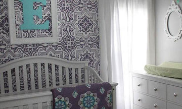 5 Baby Room Decor Accent Walls Ideas with Nursery Stencils