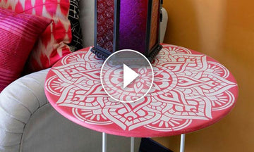 IKEA Hack: How to Stencil a Mandala Table