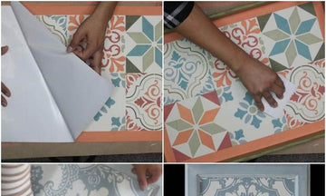 Easy Stencil Ideas with Paint, Peel & Stick Canvas™