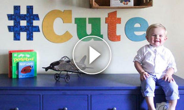 Craft Stencil Tutorial: Cute Wall Art Letters for Kids