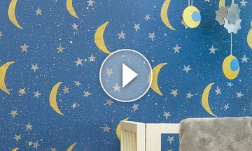 How to Paint the Night Sky with Wall Stencils