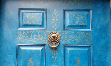 Open Up to Painting Your Door with Stencil Designs