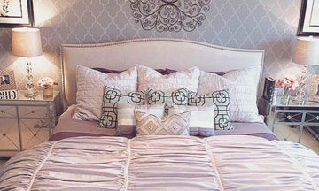 Stencil Ideas for a Dreamy Romantic Bedroom