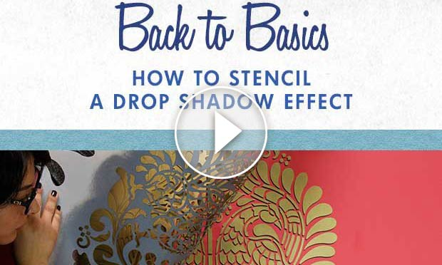 How To Stencil A Drop Shadow Effect Diy 3d Dimensional